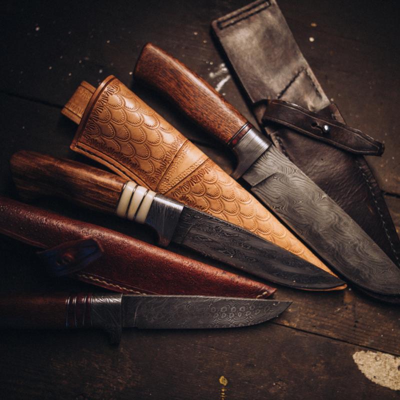 Nože Novotný - Nože z damascénské oceli